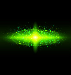 bright green of galaxy for design vector image vector image