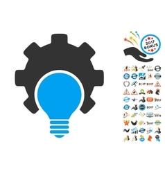 Bulb configuration gear icon with 2017 year bonus vector
