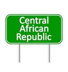 Central african republic road sign vector