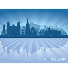Christchurch new zealand city skyline silhouette vector