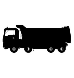 Detailed silhouette of truck isolated on white vector