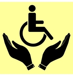 Disabled sign with hands vector