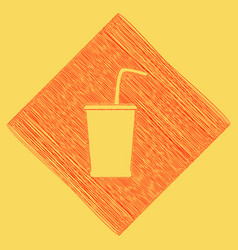 Drink sign red scribble icon vector