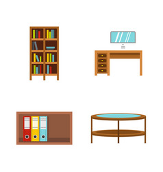 furniture icon set flat style vector image vector image