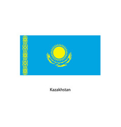 kazakhstan flag kazakhstan flag vector image
