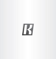 Letter k black gradient logo vector