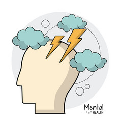 Mental health brain storm ideas vector
