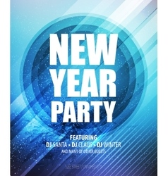 New year and Christmas party poster template vector image vector image