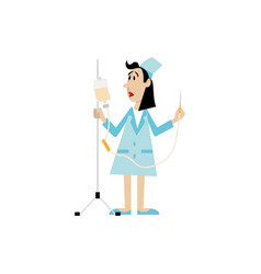 Nurse with a dropper vector