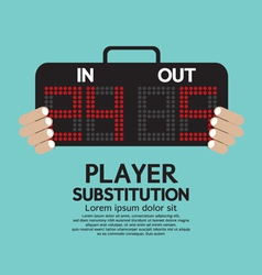Player substitution sport vector