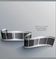 realistic 3d film strip design vector image vector image