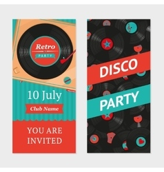 Retro party background Invitation template vector image