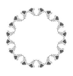 rustic plants decoration design vector image vector image