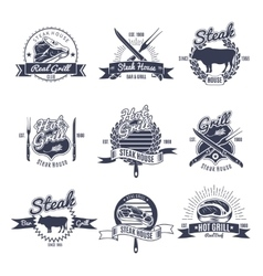 Steak House Emblems Set vector image vector image