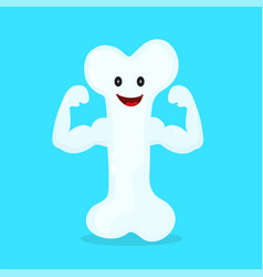 strong happy healthy bone character vector image vector image