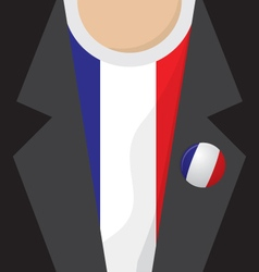 T-Shirt With France Flag vector image vector image