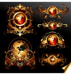 world frames set vector image vector image
