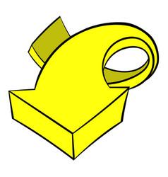 yellow spiral arrow icon icon cartoon vector image