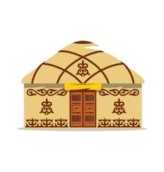 Yurt Cartoon  House of Asian vector image