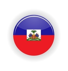 Haiti icon circle vector image