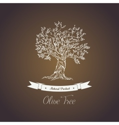Greece olive tree logo with branches vector