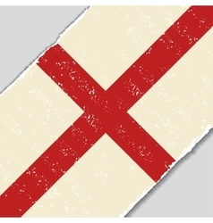 English grunge flag vector