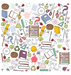 School pattern vector