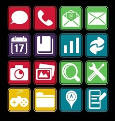 Mobile Phone Icon Basic Style vector image
