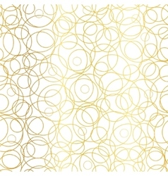 Golden Abstract Circles Bubbles Seamless vector image