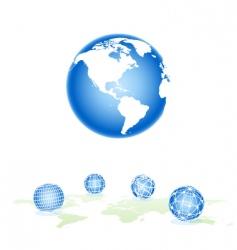 set sphere vector image