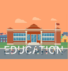 School education flat style concept vector
