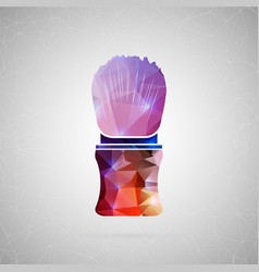 Abstract creative concept icon of shaving vector