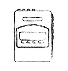 walkman cassette player icon vector image