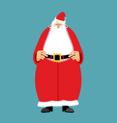 Santa claus isolated granddad in red suit and vector