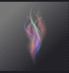 Fluid magic smoke on a dark background vector