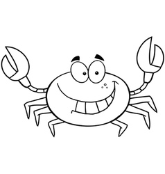 Beach crab cartoon vector
