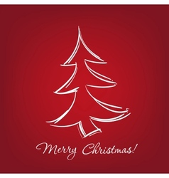 christmas-tree - hand drawn vector image