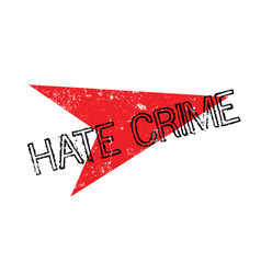 Hate crime rubber stamp vector