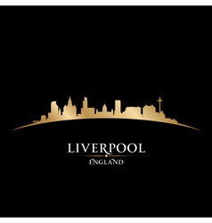 Liverpool england city skyline silhouette vector