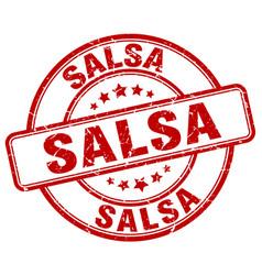 Salsa stamp vector