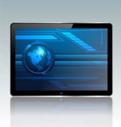 Modern pc tablet vector