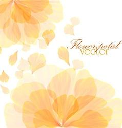 Watercolor floral vintage card vector