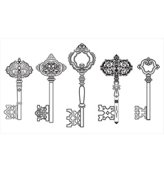 Keys antique collection set 2 vector