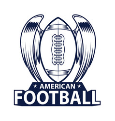 american football logo american sport style vector image