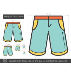 Bermuda shorts line icon vector