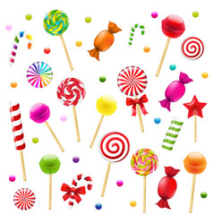 big candy set vector image vector image