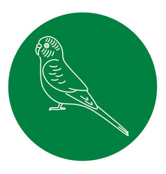 Budgerigar parrot icon in thin line style vector
