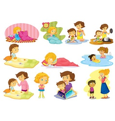 Children and activities vector