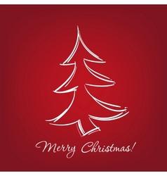 Christmas-tree - hand drawn vector