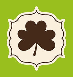 clover leaf design vector image